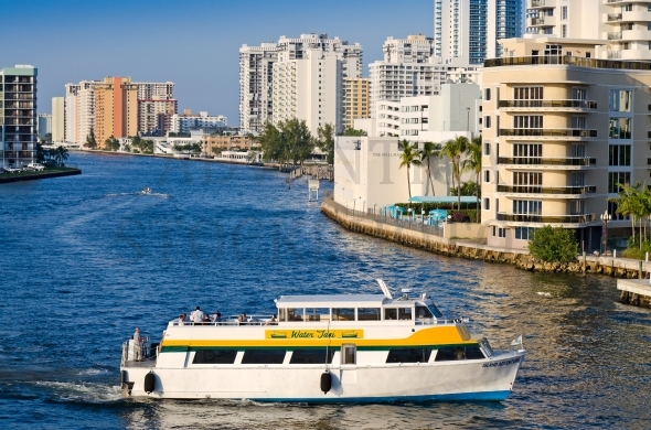 Water taxi in Hollywood Beach, Florida