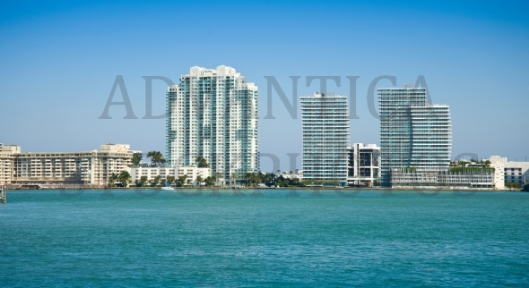 Modern buildings in Miami, Florida