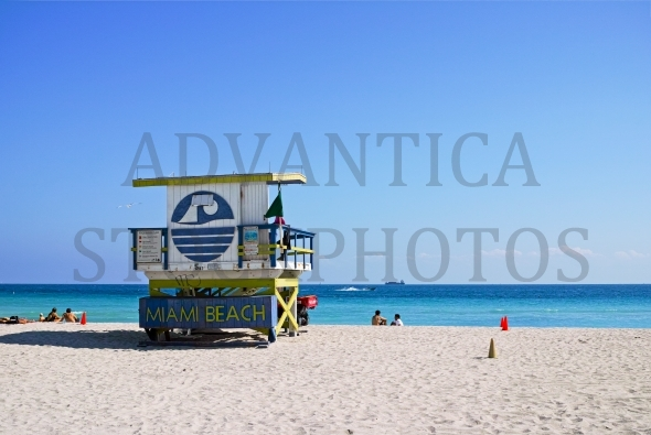 Lifeguard station on Miami Beach