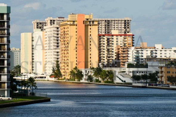 Highrise buildings in Hollywood Beach, Florida