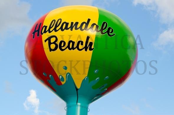Water tower in Hallandale Beach, Florida