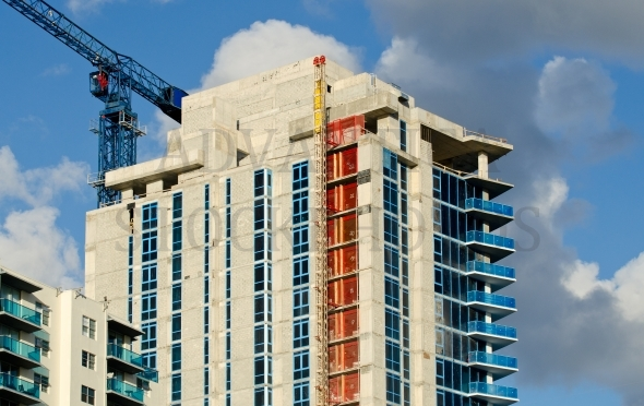 Construction of a high-rise building