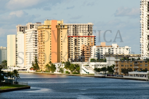 Buildings in Hollywood Beach, Florida