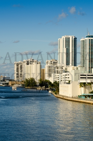 Buildings on intracoastal waterway – Hollywood
