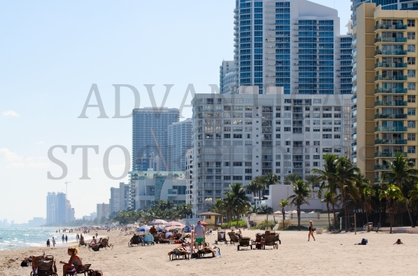 Hollywood Beach in Florida