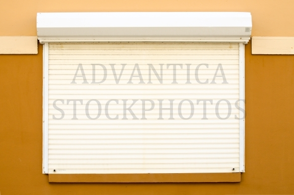 Window with closed blinds