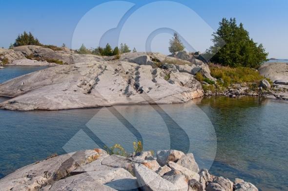 Erosion on rocky islands in Georgian Bay / Great Lakes