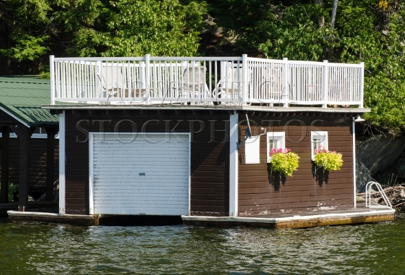 Small boathouse with a roof terrace