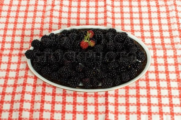 Blackberries on a plate