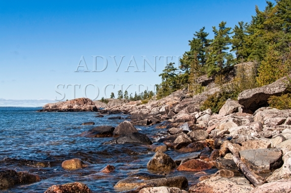 Rocky shoreline of Lake Superior
