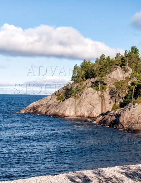 Steep cliff on north shore of Lake Superior