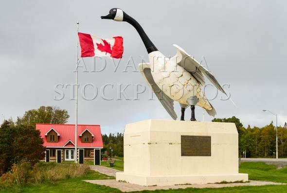 Canada goose statue in Wawa, Ontario