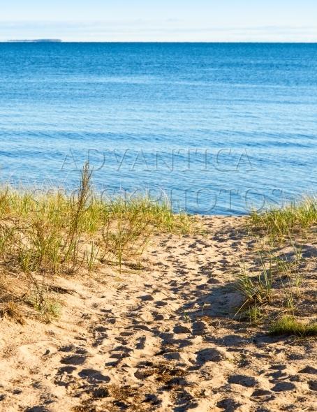 Path to the beach at Lake Superior