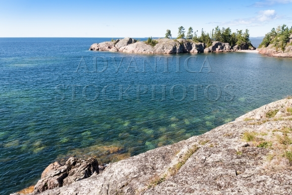 Rock formations on the northern Lake Superior