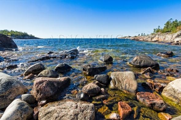 Rocky cove at the north shore of Lake Superior