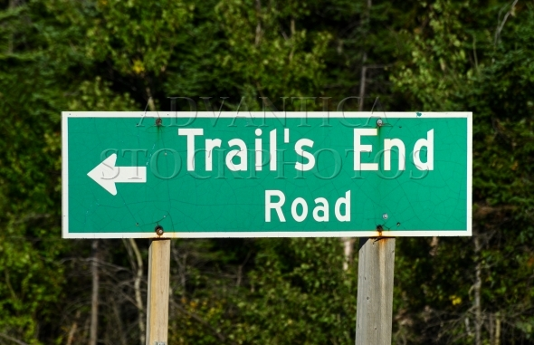 Trail's End Road Sign Post