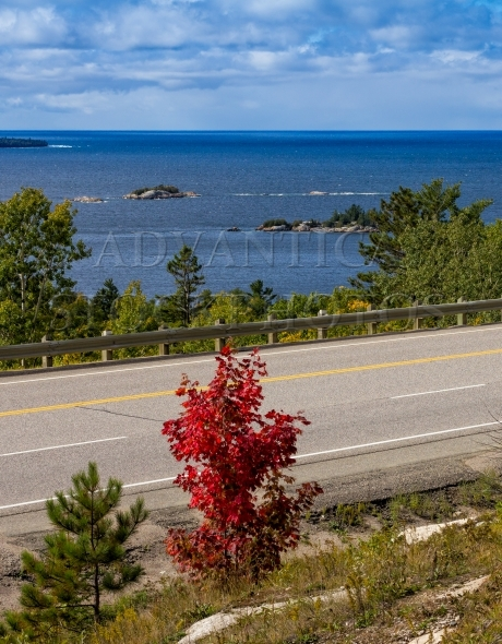 Trans-Canada Highway along the shore of Lake Superior