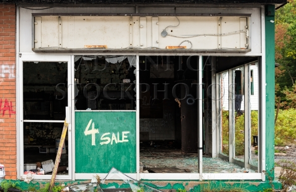 Vandalized store for sale