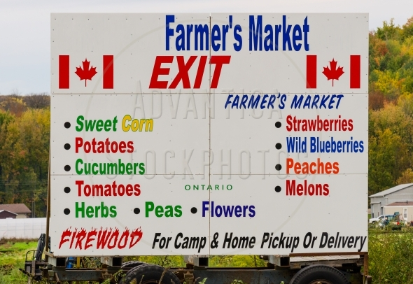 Colorful  Farmer's Market Advertising Sign