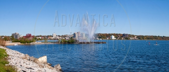 Skyline of Barrie, Ontario at Kempenfelt Bay
