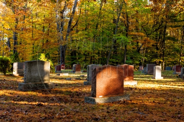 Small country cemetery in fall