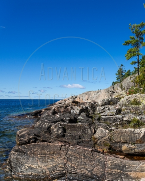 Coastal trail along the shore of Lake Superior