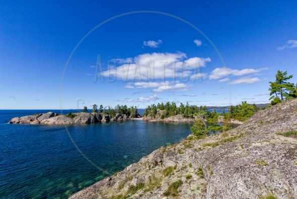Rugged coastline of Lake Superior