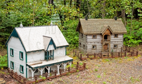 Miniature models of traditional houses