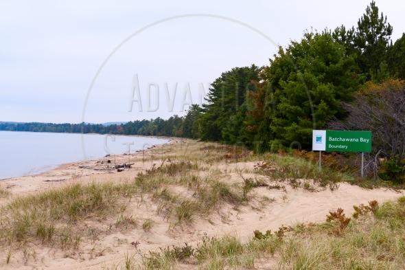 Sandy beach at Batchawana Bay Provincial Park
