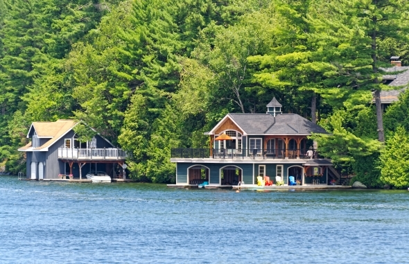 Two Large Luxury Boathouses