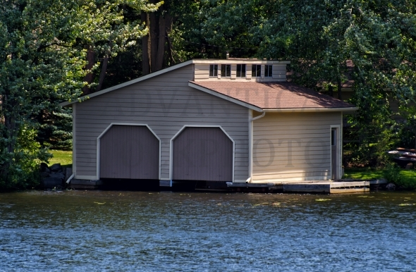 Modern Boathouse with two doors