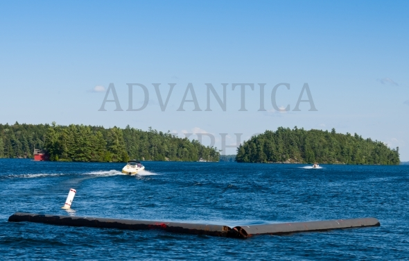 Boats On Blue Lake