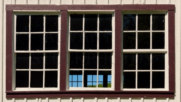 Large old-fashioned window