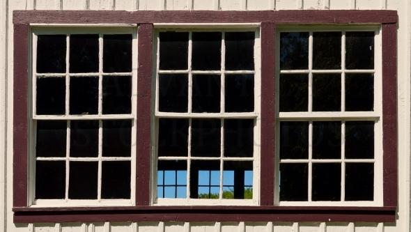 Large old-fashioned window