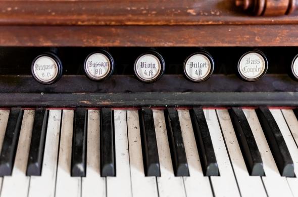 Vintage piano keys