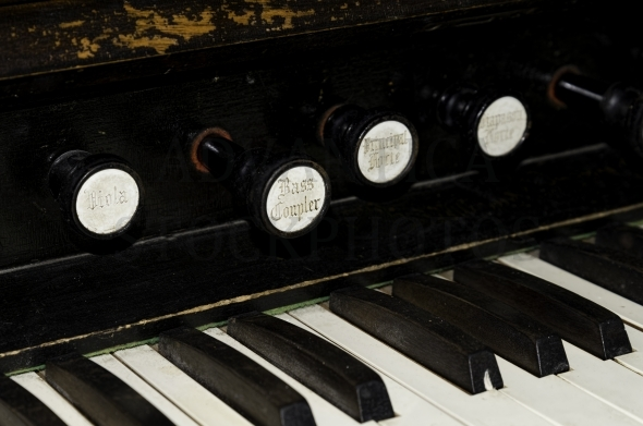 Old piano keys