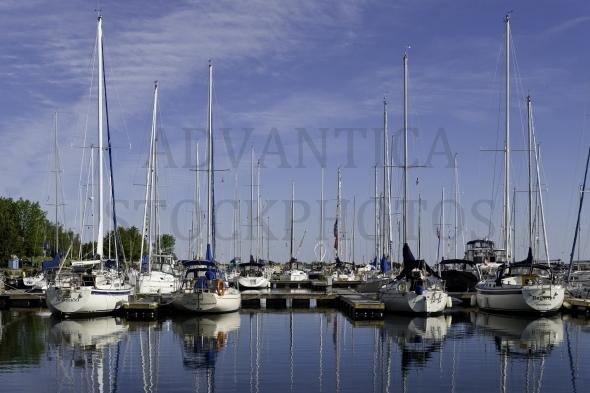 Sailboats in Thornbury Harbor