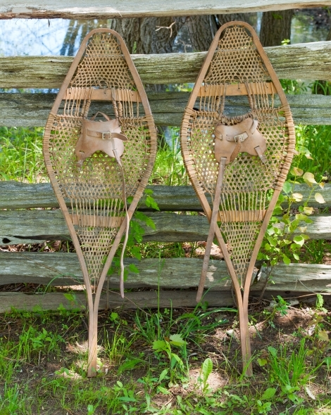 Pair of old snow shoes
