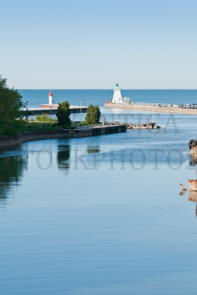 Port Dover Lighthouse w Fishing Pier vertical