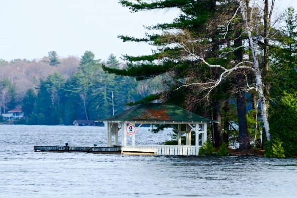 Gazebo at a lake