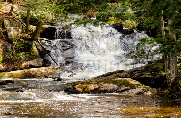 Small waterfall in Muskoka, Ontario