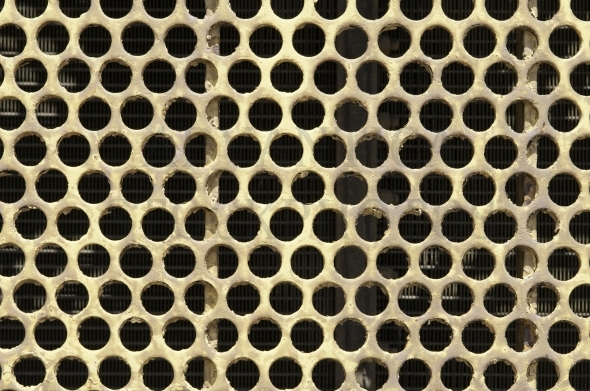 Steel plate with holes – pattern