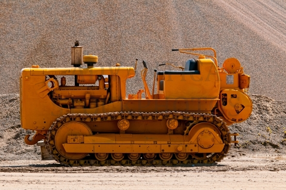Old construction machine / bulldozer