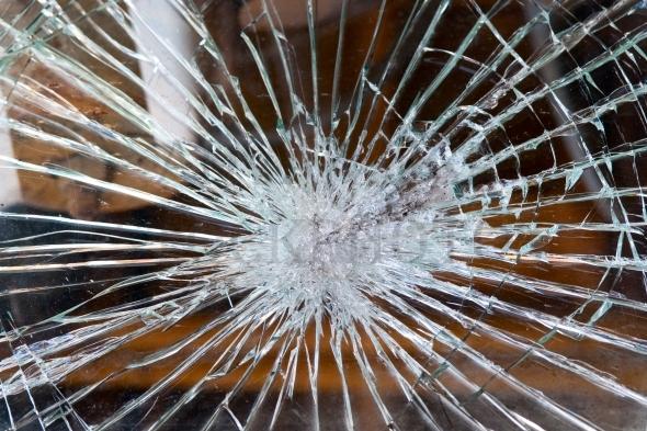 Broken windshield