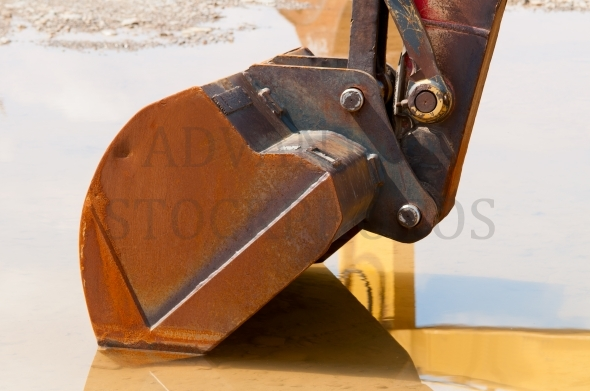 Rusty excavator shovel